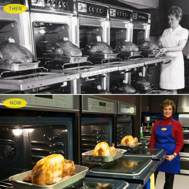 Butterball Hotline Kitchen Then and Now