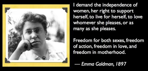 Image result for emma goldman feminist quotes