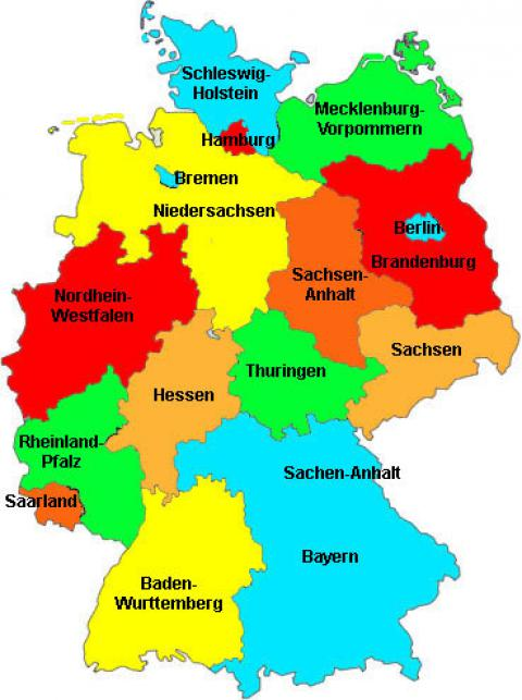Political Parties Left Right And Purely Satirical Portside - Germany political map
