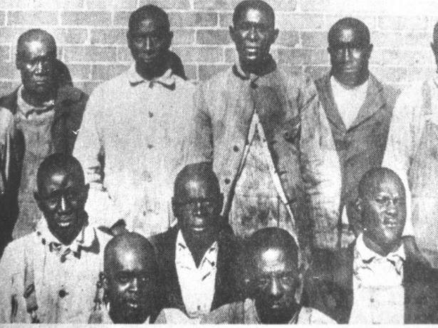 group of African-American men from 1910
