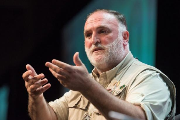 Chef and restaurant owner José Andrés spoke at the National Book Festival in D.C. last month about his humanitarian work.