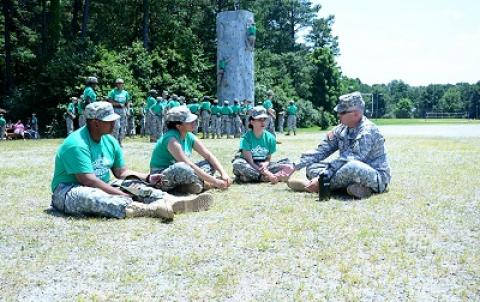 Cadets attend a five-day summer camp that