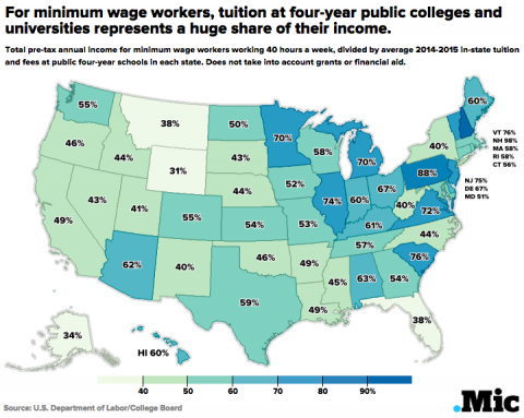 One Map Shows Just How Expensive College Can Be for Students Making Degree Map Gwu on