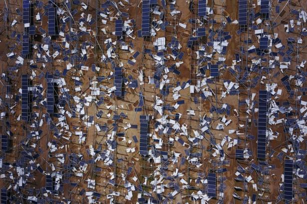 solarfuel panels destroyed in Puerto Rico