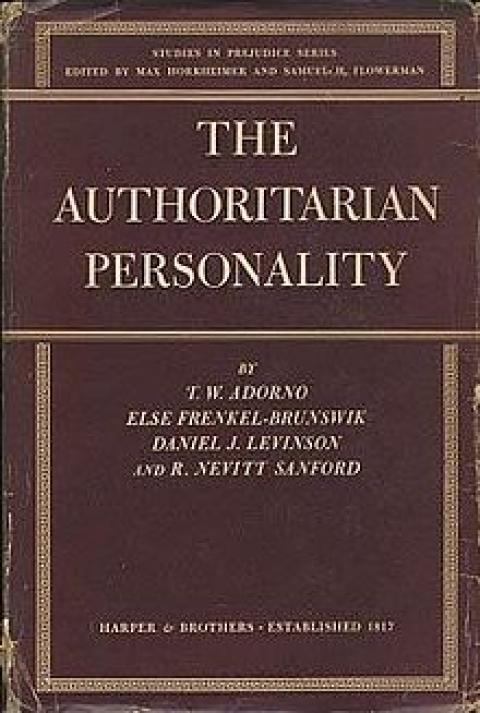 analysis of an authoritarian personality A battery of personality tests measuring authoritarian personality traits together  with the epq and the cattell 16pf test were administered to a sample of students .