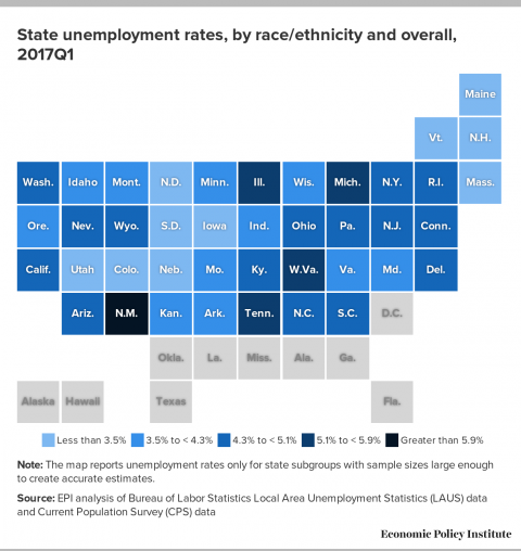 State Unemployment Rates By Race And Ethnicity Show