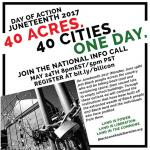 40 Acres. 40 Cities. One Day. Juneteenth 2017 feature image