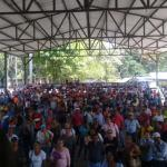 Meeting of the Platform in Defense of Health and Education in Cortes, Honduras.