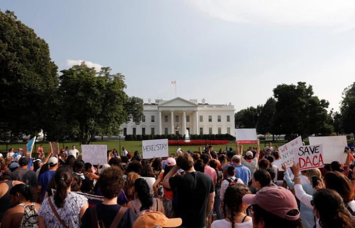 A rally in favor of DACA at the White House