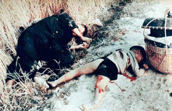 VN man and boy murdered in My Lai by U.S. soldiers.