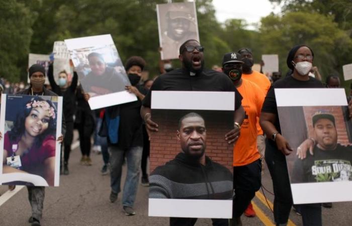demonstration protsting police murder of George Floyd and other Black people