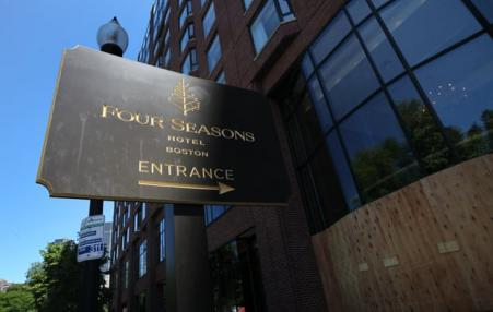 Four Seasons Hotel Boston sign
