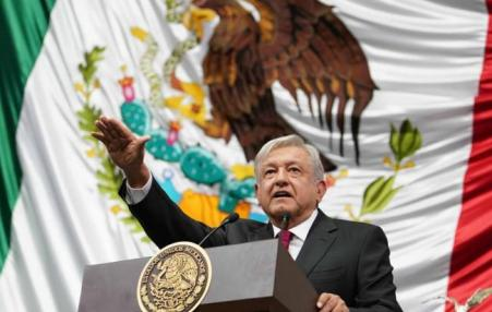 Newly inaugurated Mexican President Andrés Manuel López Obrador