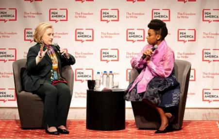 Hillary Clinton and Chimamanda Ngozi Adichie