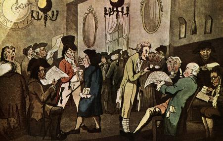 Traders, bankers, and Lloyd's merchants also met in coffeehouses in Bristol, England, to enrich themselves with profits from over 2,000 slave ships processed in that city