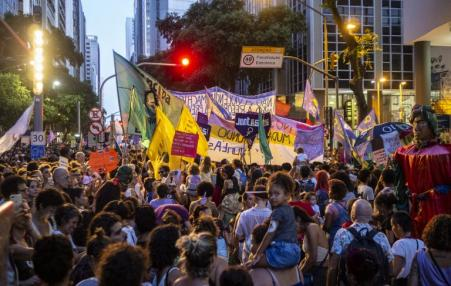 Large demonstration of women in Brazil 2019