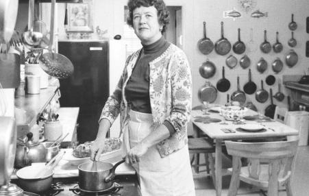 "After the wild success of ""Mastering the Art of French Cooking,"" Child cultivated an apolitical mien. But, as she became more comfortable with her fame, she spoke more openly about her beliefs."