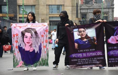 Mexico City protest against gender-based violence against women.