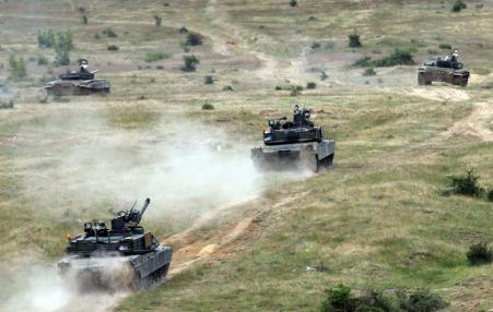 U.S. tanks in Bulgaria