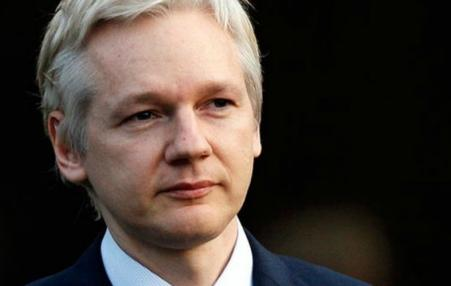 head shot of Assange