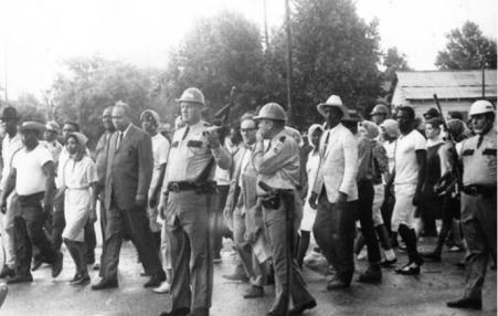 Civil Rights march in Bogalusa
