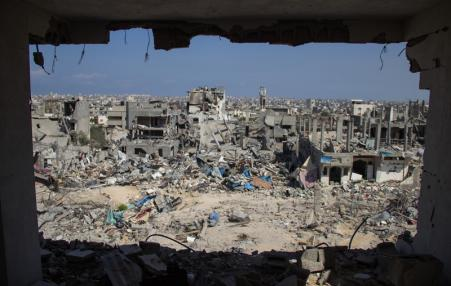 Gaza City neighborhood destruction