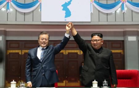 Presidents of North and South Korea