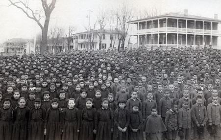 boarding school student body photo of indigenous children