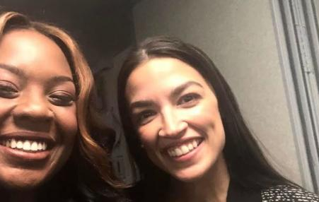 Rhiana Gunn-Wright with Congresswoman Alexandria Ocasio-Cortez