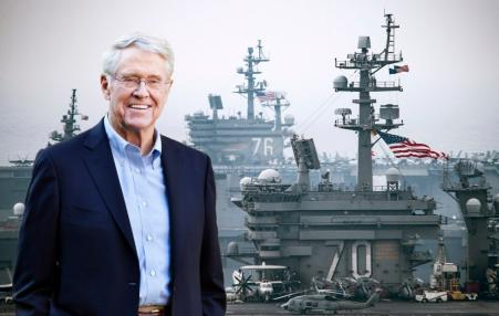 Koch and military aircraft carrier