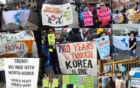 peace in Korea demonstration