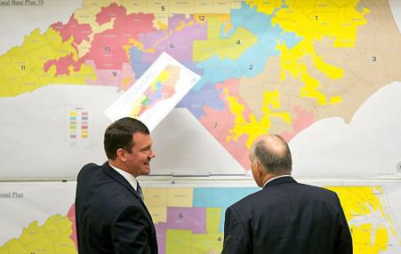 North Carolina Republican leaders review congressional map