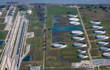 hugh oil storage tank farm