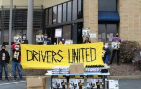 gig drivers protest
