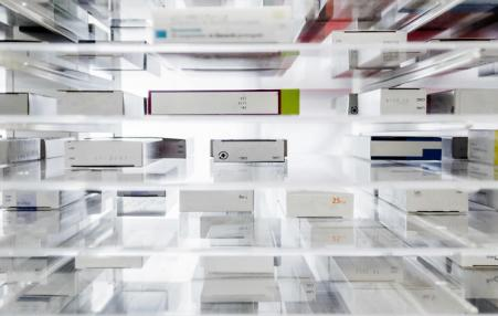 shelves of prescriptions