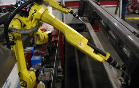 robot operating in factory