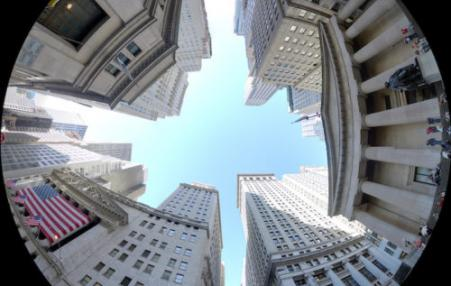 Wall Street through a fish-eye lens.
