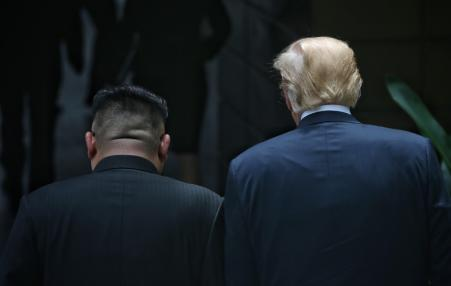 back of heads from Korea summit